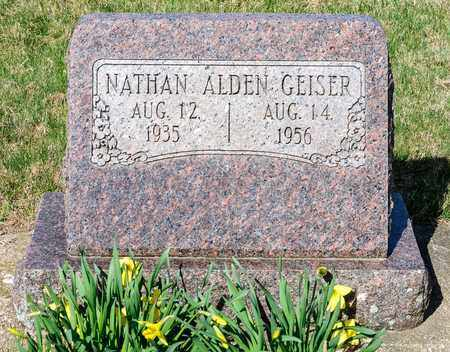 GEISER, NATHAN ALDEN - Wayne County, Ohio | NATHAN ALDEN GEISER - Ohio Gravestone Photos