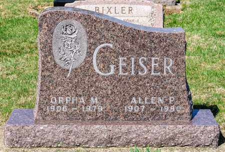 GEISER, ORPHA M - Wayne County, Ohio | ORPHA M GEISER - Ohio Gravestone Photos