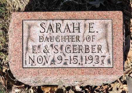 GERBER, SARAH E - Wayne County, Ohio | SARAH E GERBER - Ohio Gravestone Photos