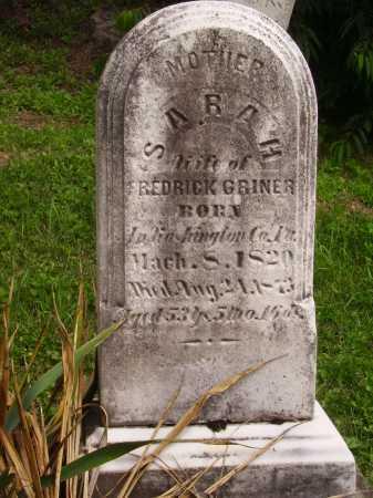 GRINER, SARAH - Wayne County, Ohio | SARAH GRINER - Ohio Gravestone Photos