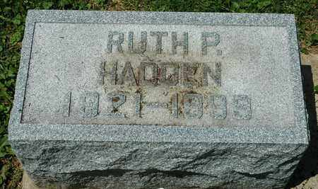 HADDEN, RUTH P. - Wayne County, Ohio | RUTH P. HADDEN - Ohio Gravestone Photos