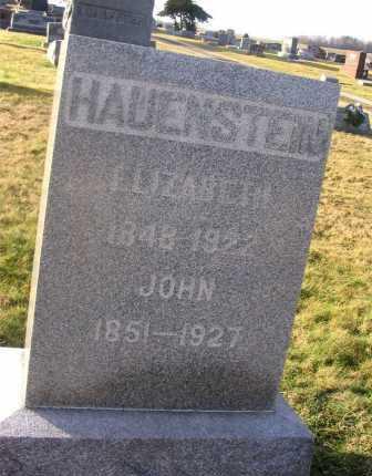 HAUENSTEIN, ELIZABETH - Wayne County, Ohio | ELIZABETH HAUENSTEIN - Ohio Gravestone Photos