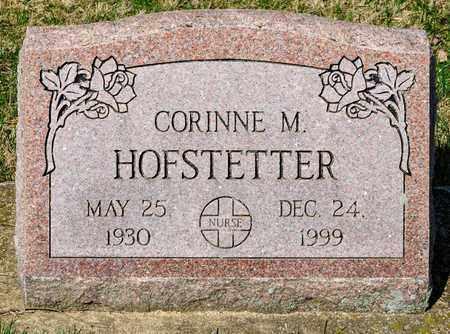 HOFSTETTER, CORINNE M - Wayne County, Ohio | CORINNE M HOFSTETTER - Ohio Gravestone Photos