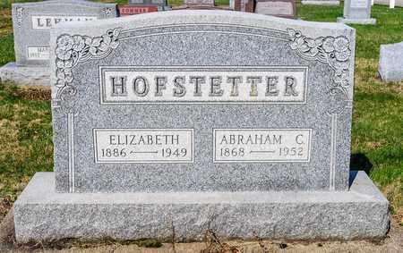 HOFSTETTER, ABRAHAM C - Wayne County, Ohio | ABRAHAM C HOFSTETTER - Ohio Gravestone Photos