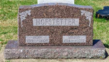 HOFSTETTER, MILTON - Wayne County, Ohio | MILTON HOFSTETTER - Ohio Gravestone Photos