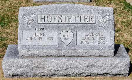 HOFSTETTER, LAVERNE - Wayne County, Ohio | LAVERNE HOFSTETTER - Ohio Gravestone Photos