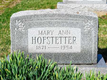 HOFSTETTER, MARY ANN - Wayne County, Ohio | MARY ANN HOFSTETTER - Ohio Gravestone Photos