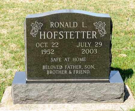 HOFSTETTER, RONALD L - Wayne County, Ohio | RONALD L HOFSTETTER - Ohio Gravestone Photos