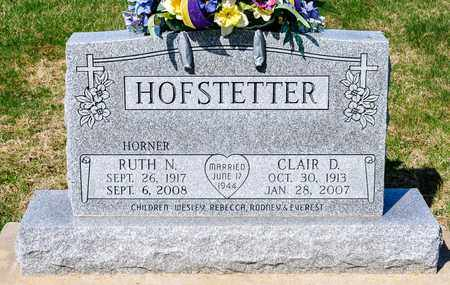 HOFSTETTER, CLAIR D - Wayne County, Ohio | CLAIR D HOFSTETTER - Ohio Gravestone Photos