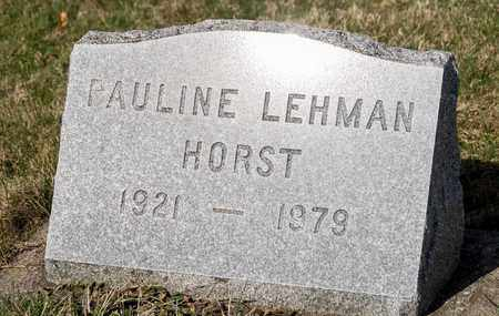 LEHMAN HORST, PAULINE - Wayne County, Ohio | PAULINE LEHMAN HORST - Ohio Gravestone Photos
