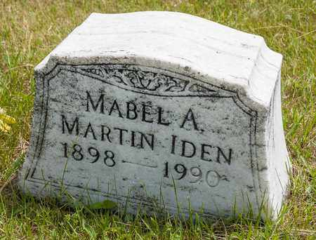 IDEN, MABEL A. - Wayne County, Ohio | MABEL A. IDEN - Ohio Gravestone Photos