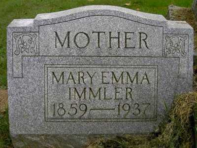 IMMLER, MARY EMMA - Wayne County, Ohio | MARY EMMA IMMLER - Ohio Gravestone Photos