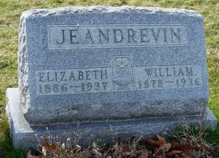 WILLIAMS JEANDREVIN, ELIZABETH - Wayne County, Ohio | ELIZABETH WILLIAMS JEANDREVIN - Ohio Gravestone Photos