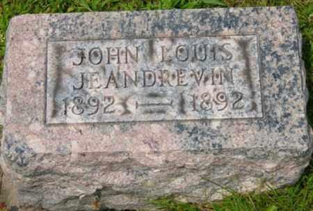 JEANDREVIN, JOHN LOUIS - Wayne County, Ohio | JOHN LOUIS JEANDREVIN - Ohio Gravestone Photos
