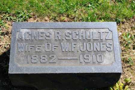 SCHULTZ JONES, AGNES R. - Wayne County, Ohio | AGNES R. SCHULTZ JONES - Ohio Gravestone Photos