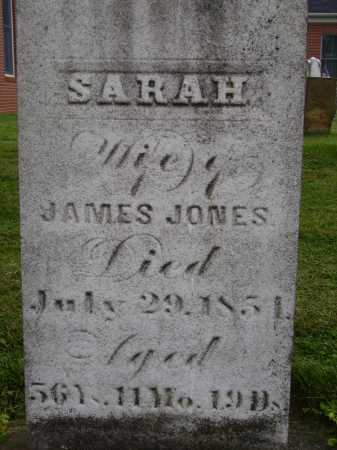 JONES, SARAH - Wayne County, Ohio | SARAH JONES - Ohio Gravestone Photos