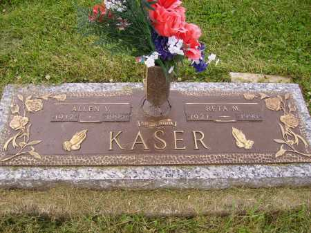KASER, ALLEN V. - Wayne County, Ohio | ALLEN V. KASER - Ohio Gravestone Photos