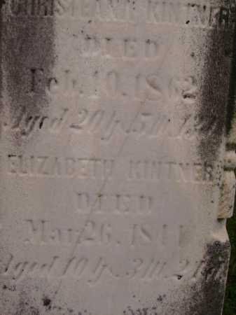 KINTNER, ELIZABETH - Wayne County, Ohio | ELIZABETH KINTNER - Ohio Gravestone Photos