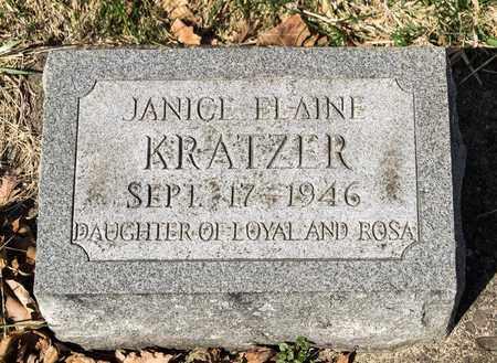 KRATZER, JANICE ELAINE - Wayne County, Ohio | JANICE ELAINE KRATZER - Ohio Gravestone Photos