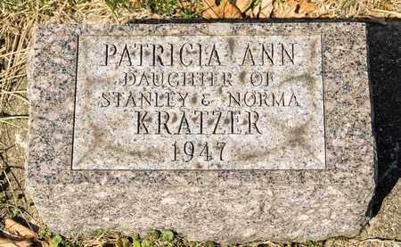 KRATZER, PATRICIA ANN - Wayne County, Ohio | PATRICIA ANN KRATZER - Ohio Gravestone Photos