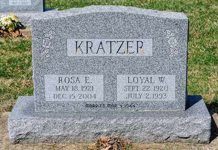 KRATZER, LOYAL W - Wayne County, Ohio | LOYAL W KRATZER - Ohio Gravestone Photos