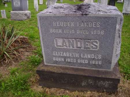 LANDES, ELIZABETH - Wayne County, Ohio | ELIZABETH LANDES - Ohio Gravestone Photos