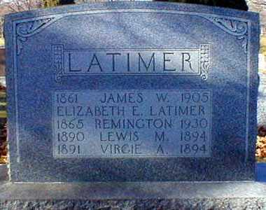 GRIFFITH REMINGTON, ELIZABETH E. LATIMER - Wayne County, Ohio | ELIZABETH E. LATIMER GRIFFITH REMINGTON - Ohio Gravestone Photos