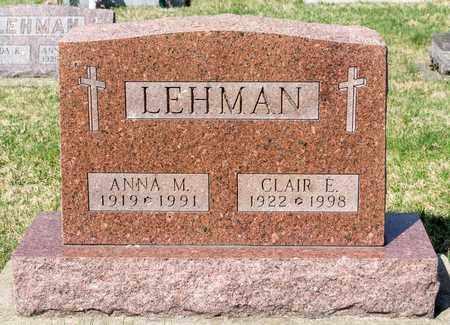 LEHMAN, ANNA M - Wayne County, Ohio | ANNA M LEHMAN - Ohio Gravestone Photos