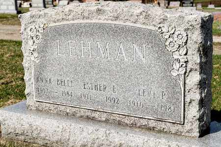 LEHMAN, ANNA BELLE - Wayne County, Ohio | ANNA BELLE LEHMAN - Ohio Gravestone Photos