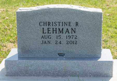 LEHMAN, CHRISTINE R - Wayne County, Ohio | CHRISTINE R LEHMAN - Ohio Gravestone Photos