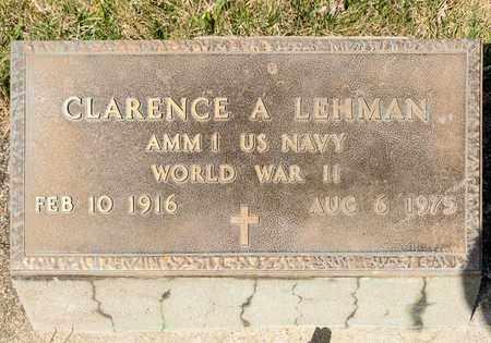 LEHMAN, CLARENCE A - Wayne County, Ohio | CLARENCE A LEHMAN - Ohio Gravestone Photos