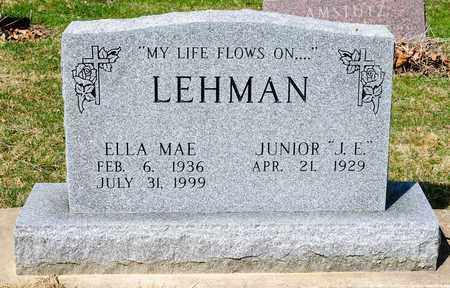LEHMAN, ELLA MAE - Wayne County, Ohio | ELLA MAE LEHMAN - Ohio Gravestone Photos