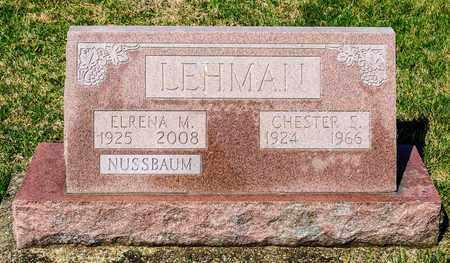 LEHMAN, CHESTER S - Wayne County, Ohio | CHESTER S LEHMAN - Ohio Gravestone Photos