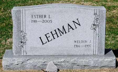 LEHMAN, ESTHER L - Wayne County, Ohio | ESTHER L LEHMAN - Ohio Gravestone Photos
