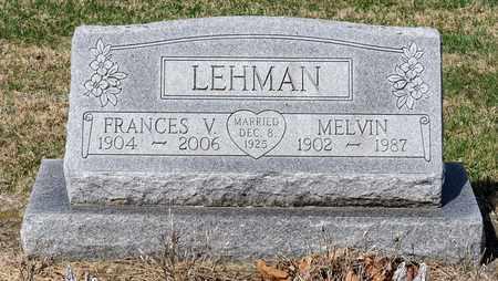 LEHMAN, MELVIN - Wayne County, Ohio | MELVIN LEHMAN - Ohio Gravestone Photos