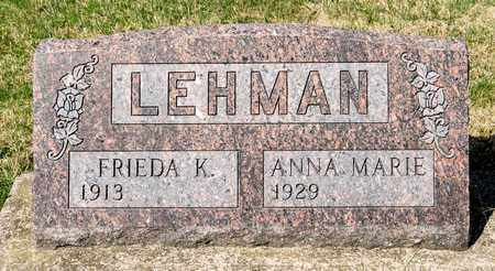 LEHMAN, FRIEDA K - Wayne County, Ohio | FRIEDA K LEHMAN - Ohio Gravestone Photos