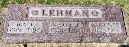 LEHMAN, SIMON J - Wayne County, Ohio | SIMON J LEHMAN - Ohio Gravestone Photos