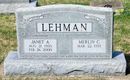 LEHMAN, JANET A - Wayne County, Ohio | JANET A LEHMAN - Ohio Gravestone Photos