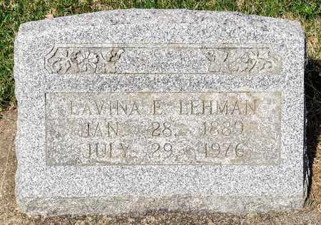 LEHMAN, LAVINA E - Wayne County, Ohio | LAVINA E LEHMAN - Ohio Gravestone Photos