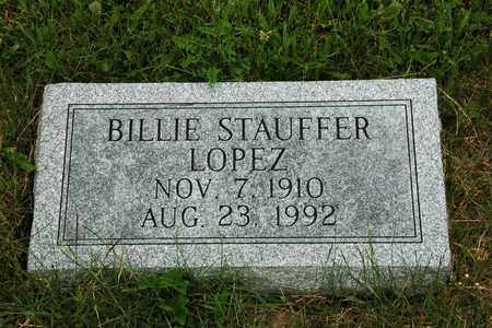 STAUFFER LOPEZ, BILLIE - Wayne County, Ohio | BILLIE STAUFFER LOPEZ - Ohio Gravestone Photos