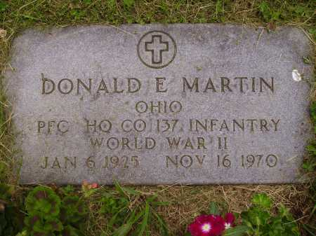MARTIN, DONALD E. - Wayne County, Ohio | DONALD E. MARTIN - Ohio Gravestone Photos