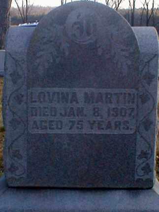 MARTIN, LOVINA - Wayne County, Ohio | LOVINA MARTIN - Ohio Gravestone Photos