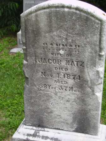 LUFT MATZ, HANNAH - Wayne County, Ohio | HANNAH LUFT MATZ - Ohio Gravestone Photos