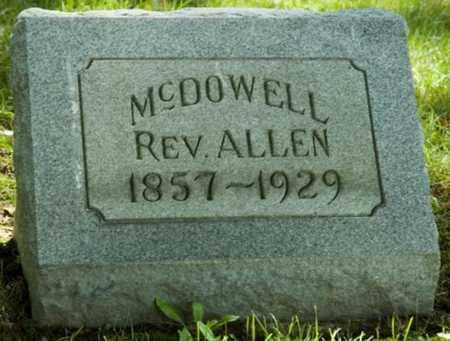 MCDOWELL, REV. ALLEN - Wayne County, Ohio | REV. ALLEN MCDOWELL - Ohio Gravestone Photos
