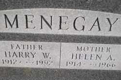 MENEGAY, HELEN A. - Wayne County, Ohio | HELEN A. MENEGAY - Ohio Gravestone Photos