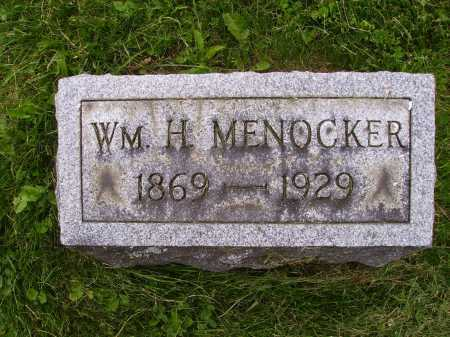 MENOCKER, WM. H. - Wayne County, Ohio | WM. H. MENOCKER - Ohio Gravestone Photos