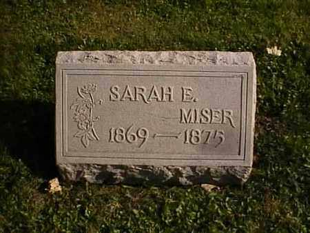 MISER, SARAH E. - Wayne County, Ohio | SARAH E. MISER - Ohio Gravestone Photos