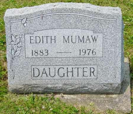 MUMAW, EDITH - Wayne County, Ohio | EDITH MUMAW - Ohio Gravestone Photos
