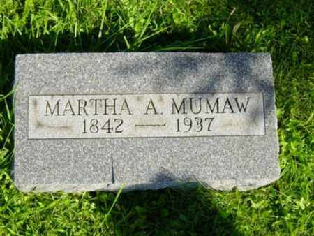ASH MUMAW, MARTHA - Wayne County, Ohio | MARTHA ASH MUMAW - Ohio Gravestone Photos