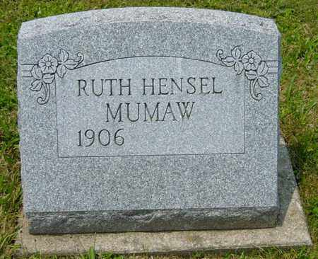 HENSEL MUMAW, RUTH - Wayne County, Ohio | RUTH HENSEL MUMAW - Ohio Gravestone Photos